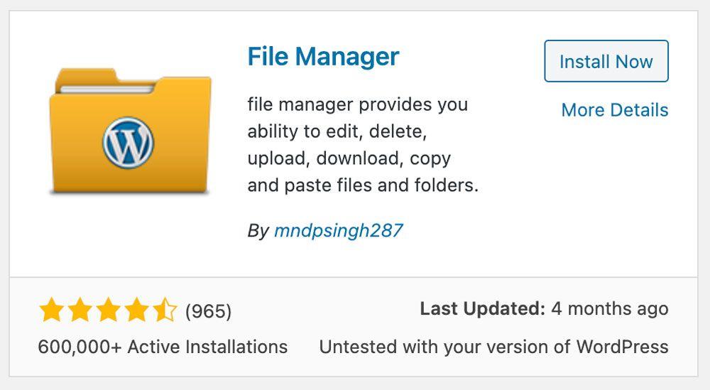 File Manager Plugin