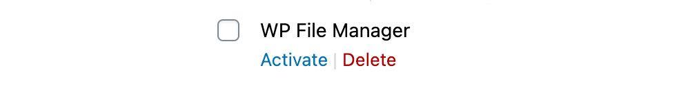 Delete WP File Manager