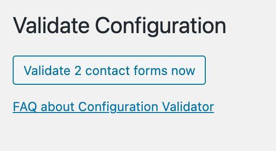 Validate Configuration